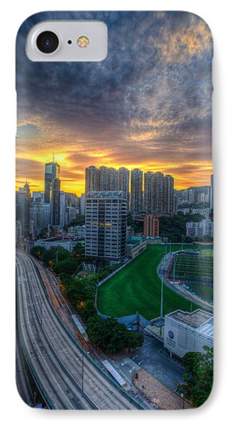 Sunrise In Hong Kong IPhone Case by Mike Lee