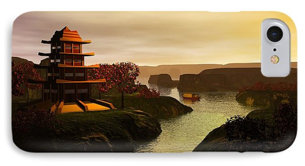 Sunrise In Japan IPhone Case by John Pangia