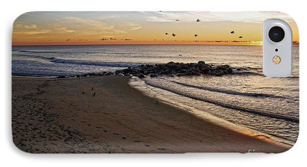 IPhone Case featuring the photograph Sunrise In Ocean Grove by Debra Fedchin