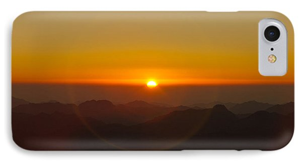 IPhone Case featuring the pyrography Sunrise In Sinai Mountains by Julis Simo