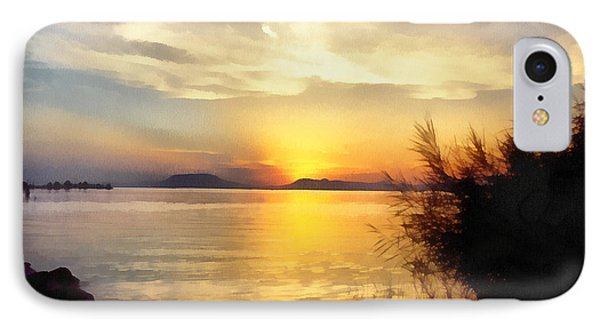 Sunrise In The Balaton Lake IPhone Case by Odon Czintos