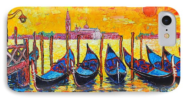 Sunrise In Venice Italy Gondolas And San Giorgio Maggiore IPhone Case by Ana Maria Edulescu