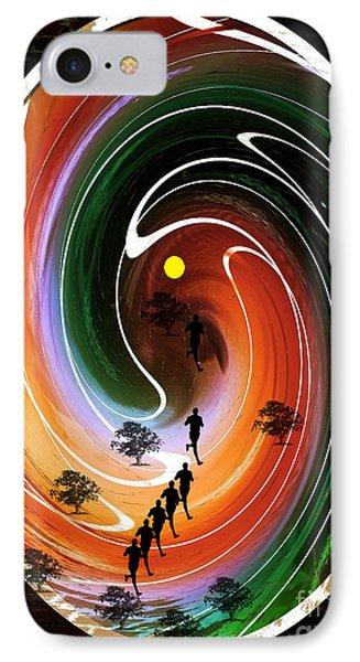 Sunrise Joggers  IPhone Case by Ann Calvo