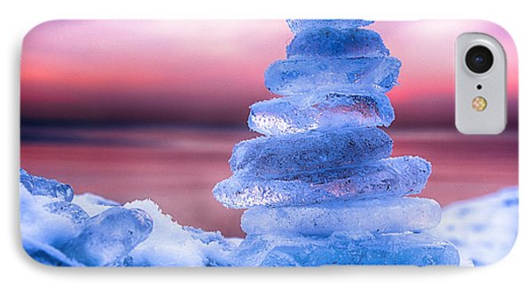 Sunrise Lake Michigan 12-19-13 1 IPhone Case by Michael  Bennett