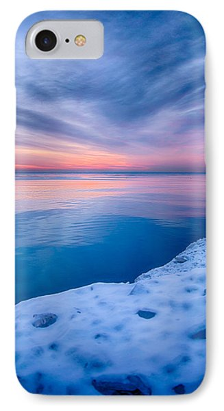 Sunrise Lake Michigan 12-19-13 2 IPhone Case by Michael  Bennett