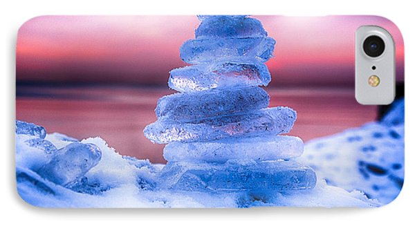 Sunrise Lake Michigan 12-19-13 3 IPhone Case by Michael  Bennett