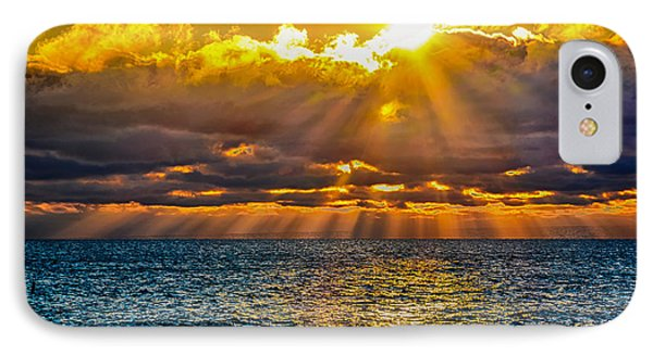 Sunrise Lake Michigan 9-29-13 IPhone Case by Michael  Bennett