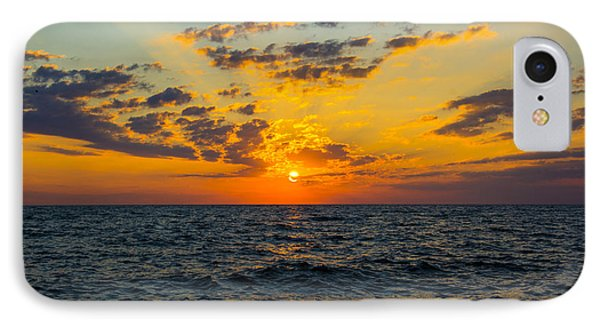 Sunrise Lake Michigan August 10th 2013 001 IPhone Case by Michael  Bennett