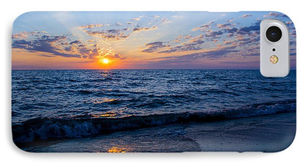 Sunrise Lake Michigan August 10th 2013 002 IPhone Case by Michael  Bennett