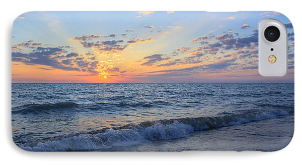 Sunrise Lake Michigan August 10th 2013 004 IPhone Case by Michael  Bennett