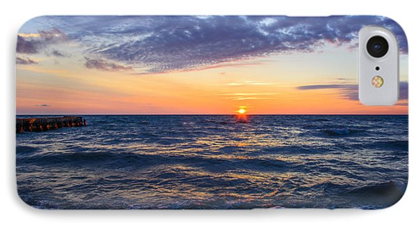 Sunrise Lake Michigan August 8th 2013 001 IPhone Case by Michael  Bennett
