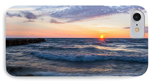 Sunrise Lake Michigan August 8th 2013 003 IPhone Case by Michael  Bennett