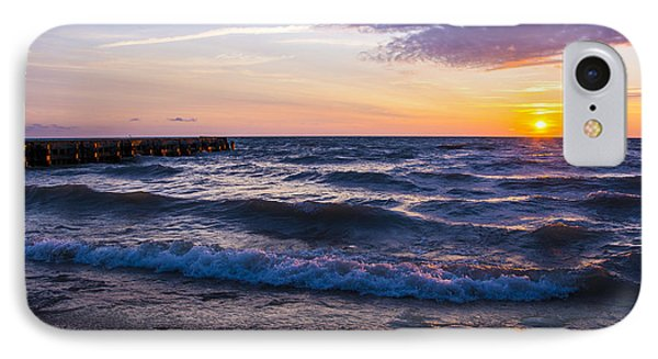 IPhone Case featuring the photograph Sunrise Lake Michigan August 8th 2013 004 by Michael  Bennett