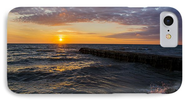 Sunrise Lake Michigan August 8th 2013 005 IPhone Case by Michael  Bennett