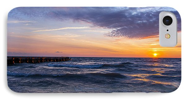 Sunrise Lake Michigan August 8th 2013 007 IPhone Case by Michael  Bennett