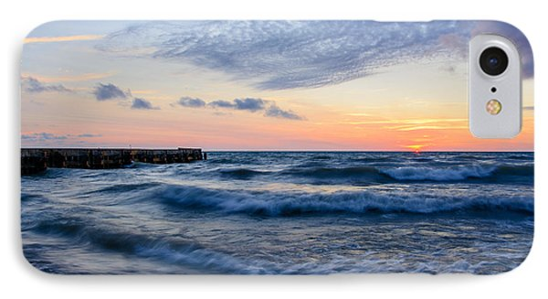 Sunrise Lake Michigan August 8th 2013  IPhone Case by Michael  Bennett