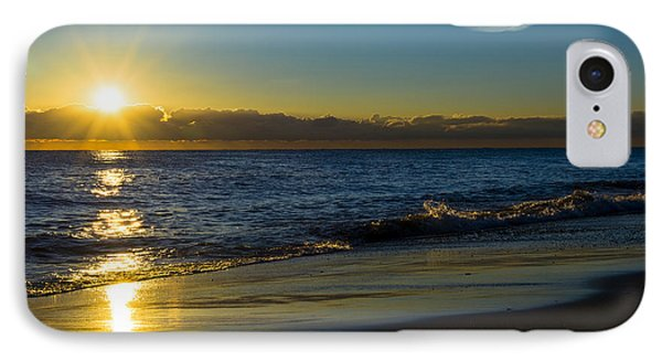 Sunrise Lake Michigan September 14 2013 01 IPhone Case by Michael  Bennett
