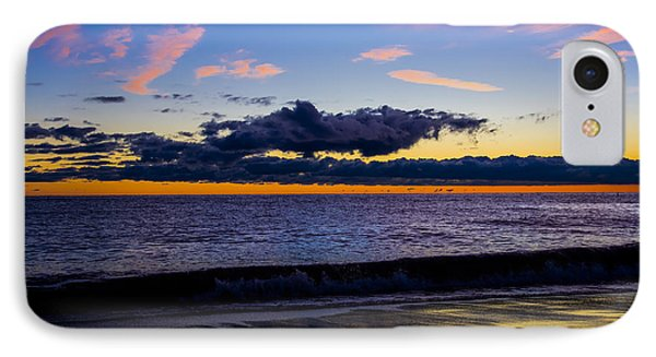 Sunrise Lake Michigan September 14th 2013 002 IPhone Case by Michael  Bennett