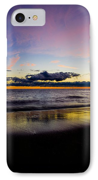 IPhone Case featuring the photograph Sunrise Lake Michigan September 14th 2013 010 by Michael  Bennett