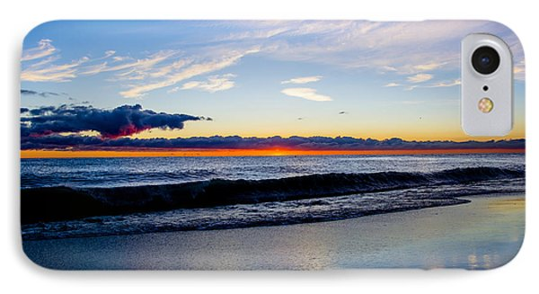IPhone Case featuring the photograph Sunrise Lake Michigan September 14th 2013 013 by Michael  Bennett