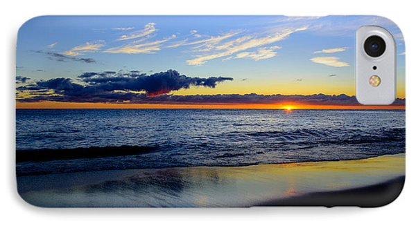 IPhone Case featuring the photograph Sunrise Lake Michigan September 14th 2013 017 by Michael  Bennett