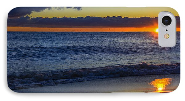 IPhone Case featuring the photograph Sunrise Lake Michigan September 14th 2013 020 by Michael  Bennett