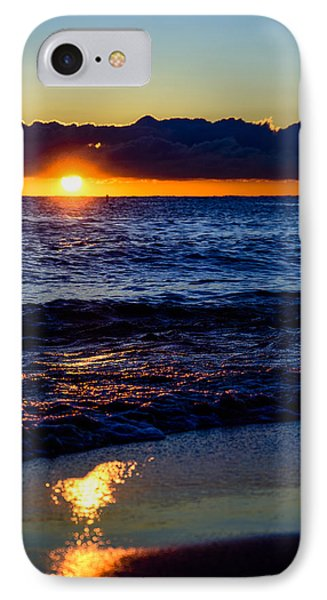 IPhone Case featuring the photograph Sunrise Lake Michigan September 14th 2013 021 by Michael  Bennett