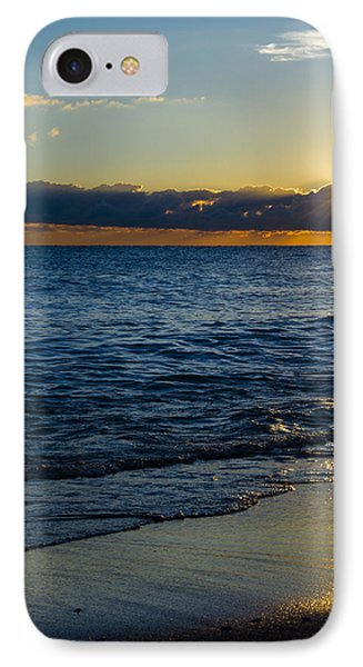 IPhone Case featuring the photograph Sunrise Lake Michigan September 14th 2013 024 by Michael  Bennett