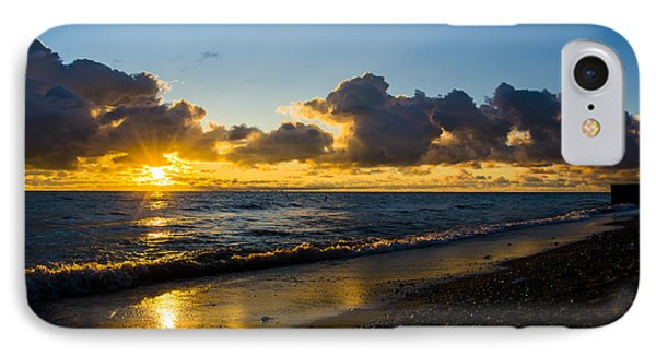 IPhone Case featuring the photograph Sunrise Lake Michigan September 2nd 2013 004 by Michael  Bennett