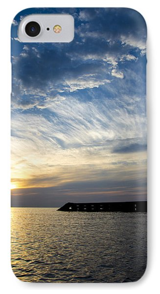 Sunrise Lake Michigan September 7th 2013  IPhone Case by Michael  Bennett