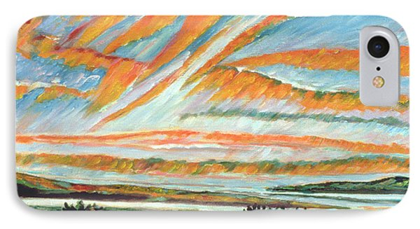 Sunrise Les Eboulements Quebec Phone Case by Patricia Eyre