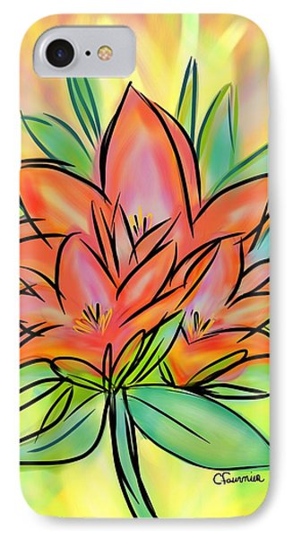 Sunrise Lily IPhone Case by Christine Fournier