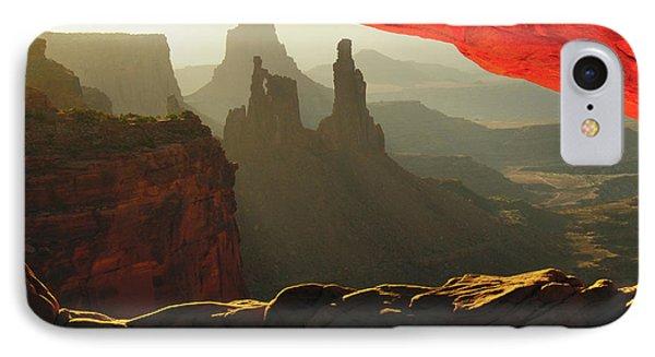 Sunrise, Mesa Arch, Canyonlands IPhone Case by Michel Hersen