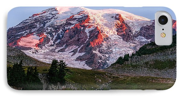 Sunrise Mt Rainier IPhone Case by Sharon Seaward