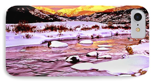 Sunrise On A Cold Day IPhone Case by Bob and Nadine Johnston