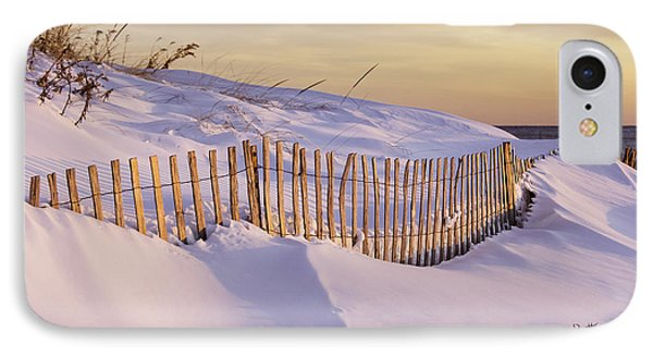 Sunrise On Beach Fence IPhone Case by Betty Denise