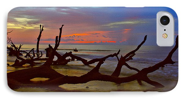 Sunrise On Bulls Island IPhone Case by Bill Barber