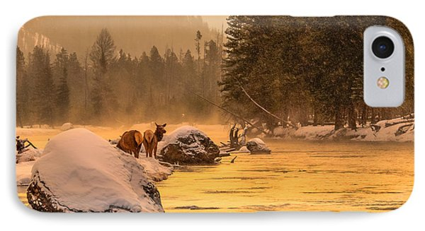 IPhone Case featuring the photograph Sunrise On Madison River by Yeates Photography