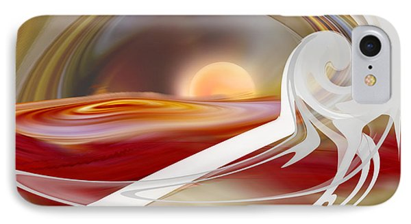 IPhone Case featuring the digital art Sunrise On Perdition by rd Erickson