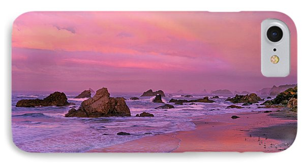 IPhone Case featuring the photograph Sunrise On Sea Stacks Harris Sb Oregon by Dave Welling