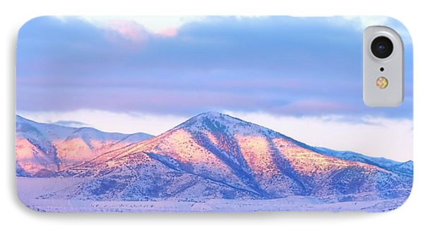 Sunrise On Snow Capped Mountains Phone Case by Tracie Kaska