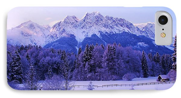 Sunrise On Snowy Mountain IPhone Case