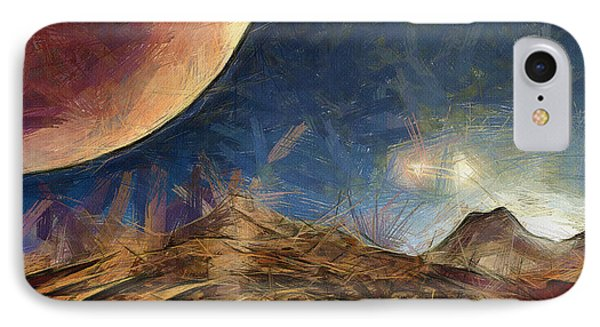 Sunrise On Space IPhone Case