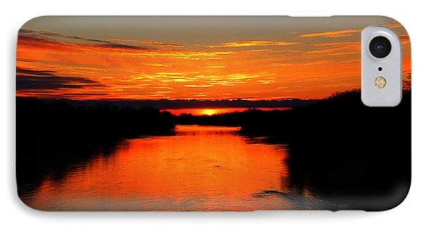 IPhone Case featuring the photograph Sunrise On The Assiniboine by Larry Trupp