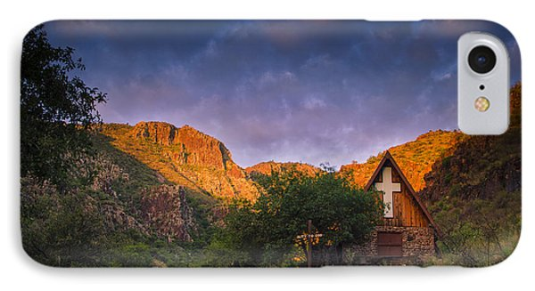 Sunrise On The Chapel Phone Case by Aaron Bedell
