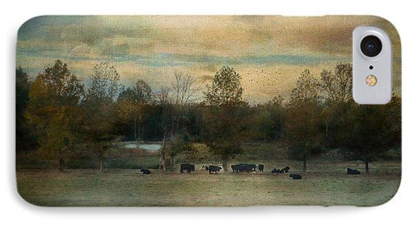 Sunrise On The Farm IPhone Case by Jai Johnson
