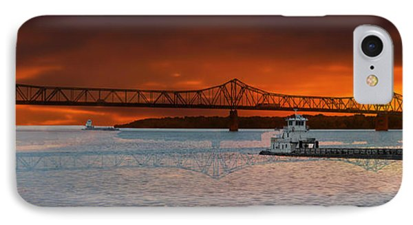 Sunrise On The Illinois River Phone Case by Thomas Woolworth