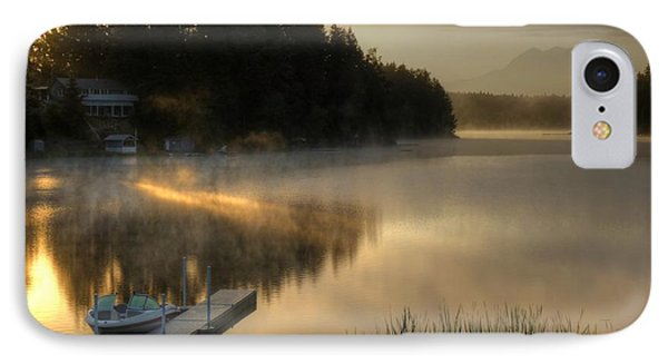 Sunrise On The Lake IPhone Case by Peter Mooyman