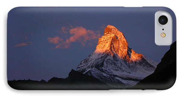 Sunrise On The Matterhorn Phone Case by Micheline Heroux