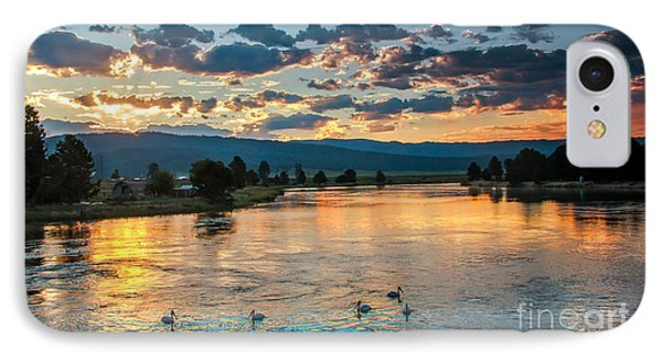 Sunrise On The North Payette River Phone Case by Robert Bales